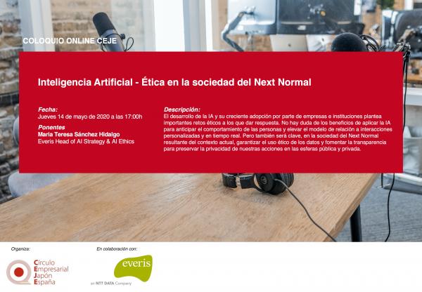 III Coloquios Online CEJE: Inteligencia Artificial – Ética en la sociedad del Next Normal