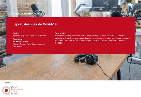 VI Coloquio Online CEJE: Japón, después del Covid-19