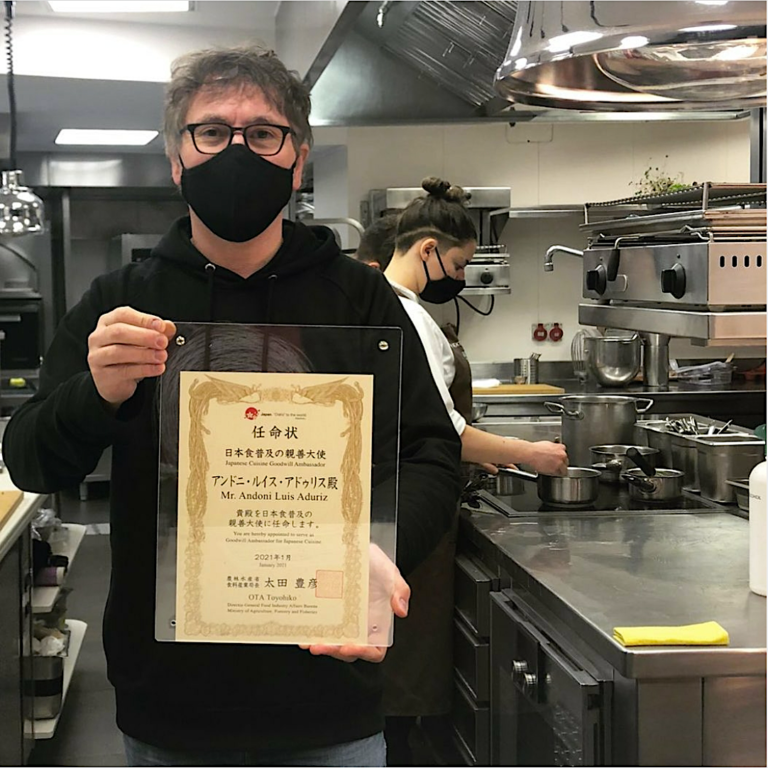 Aduriz named an ambassador of Japanese cuisine