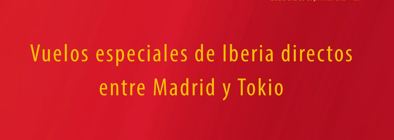 On the occasion of the Olympic Games, Iberia will promote director flights between Madrid and Tokyo