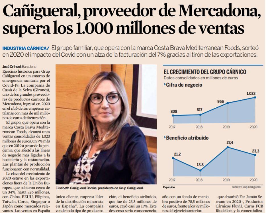 Cañigueral exceeds 1,000 million sales